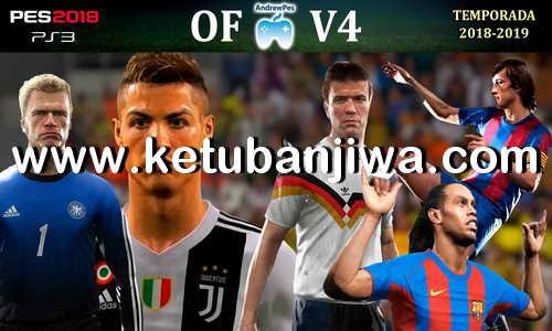 PES 2018 AndrewPes Option File v4 + Legends MyClub For PS3 OFW BLES + BLUS Ketuban Jiwa