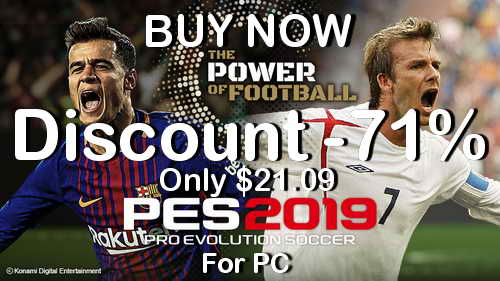 Pro Evolution Soccer PES 2019 PC Discount Price Banner Ketuban Jiwa