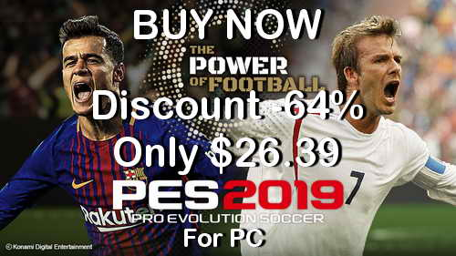 Pro Evolution Soccer PES 2019 PC Discount Price Ketuban Jiwa Banner