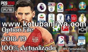 PES 2018 PS3 OFW BLUS Ultimate Option File Season 2019 by FernandoPES Ketuban Jiwa