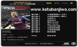 PES 2019 Cheat Trainer Plus 8 Crack 1.03 by FLiNG Ketuban Jiwa