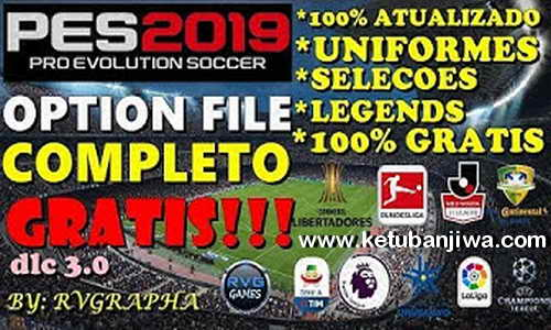 PES 2019 PS4 Option File DLC 3.0 + Legends AIO by Rvgrapha