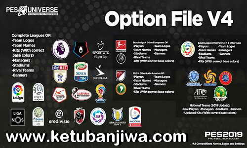 PES 2019 PESUniverse Option File v4 DLC 3.0 AIO