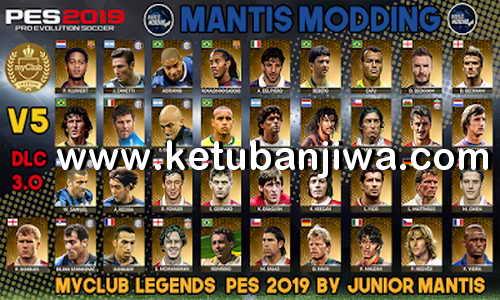 PES 2019 PS4 MyClub Legends Offline Patch v5 DLC 3.0 by Junior Mantis Ketuban Jiwa