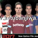 PES 2017 Next Season Patch Option File January 2019