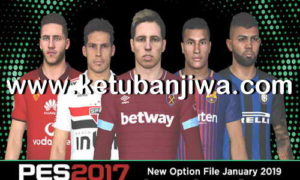 PES 2017 Next Season Patch Option File January 2019 by Micano4u Ketuban Jiwa