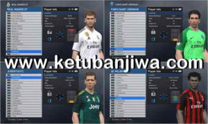 PES 2017 Option File Update 20 January 2019 For PTE Patch 6.1 by Keyhan Ketuban Jiwa
