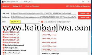 PES 2019 DpFileList Generator Tool v1.1 For DLC 4.0 by Baris Ketuban Jiwa