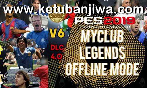 PES 2019 PS4 MyClub Legends Offline Patch v6 DLC 4 0