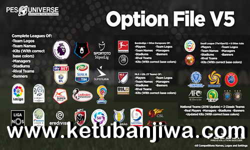 PES 2019 PES Universe Option File v5 For PS4 Ketuban Jiwa