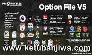 PES 2019 PESUniverse Option File v5 AIO For PC Ketuban Jiwa