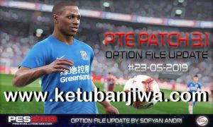 PES 2019 PTE Patch 3.1 Option File Update 23 May 2019 by Sofyan Andri Ketuban Jiwa