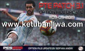 PES 2019 PTE Patch v3.1 Option File Update 09 May 2019 by Sofyan Andri Kuban Jiwa