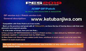 PES 2019 ICritMyPants Option File 6.2 Patch 2.0 AIO + Fix by Adrian2780 Ketuban Jiwa