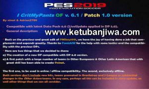 PES 2019 ICritMyPants Patch 6.0 + 6.1 Update Fix DLC 6.0 by Ninet + Adrian2780 Ketuban Jiwa