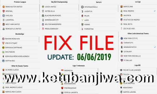PES 2019 Mobile Android Minimum Patch 3.3.0 Fix Update 06 June 2019 Ketuban Jiwa
