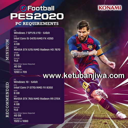 eFootball PES 2020 Demo PC Single Link System Requirements Ketuban Jiwa