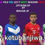 PES 2017 Next Season Patch 2020 Option File 20/08/2019