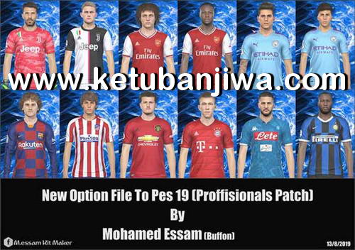 PES 2019 Professionals Patch v2.1 Option File Summer Transfer Update August by Mohamed Essam Ketuban Jiwa
