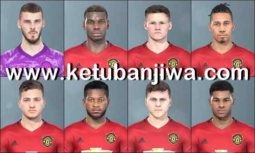 PES 2020 Manchester United Faces Pack Converted For PES 2019 by LR7 Ketuban Jiwa