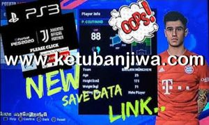 PES 2018 Option File Full Summer Transfer For PS3 Potato Patch v8 Season 2020 by Butiran Channel Ketuban Jiwa