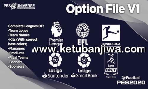 eFootball PES 2020 PES Universe Option File v1 For PS4 Ketuban Jiwa