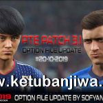 PES 2019 PTE Patch 3.1 Option File Update 20 October 2019