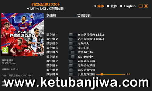 eFootball PES 2020 Cheat Trainer 1.02 Plus 8 FLiNG by 3DM Ketuban Jiwa