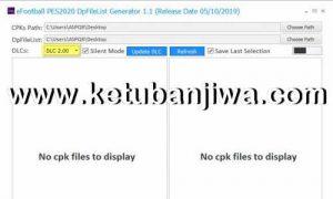 eFootball PES 2020 DpFileList Generator Tools v1.1 For DLC 2.0 by MjTs-140914 Ketuban Jiwa