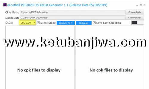 eFootball PES 2020 DpFileList Generator Tools v1.1 For DLC 2.0 by MjTs-140914 Ketuban Jiwa