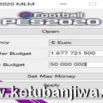 PES 2020 Master League Money Editor Tools 1.1