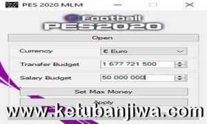 eFootball PES 2020 Master League ML Money Editor Tools v1.1 by Extream87 Ketuban Jiwa