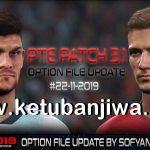 PES 2019 PTE Patch 3.1 Option File Update 22 November 2019