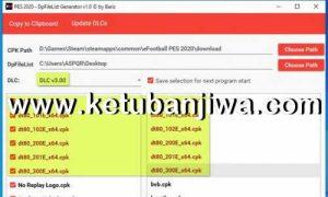 PES 2020 DpFileList Generator Tools For DLC 3.00 by Baris Ketuban Jiwa