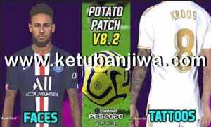 Download PES 2018 Potato Patch v8.2 Update Season 2020 Single Link For PlayStaion 3 BLES + BLUS by Team Poltergeist Ketuban Jiwa