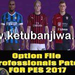 PES 2017 Option File 25/01/20 For Professionals Patch v6