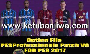 PES 2017 Professionals Patch v6 Option File Update 25 January 2020 by PES Empire Ketuban Jiwa