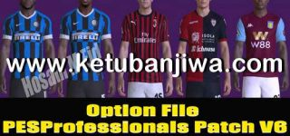 PES 2017 Option File 25/01/20 For Professionals Patch v6