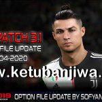 PES 2019 PTE Patch 3.1 Option File Update 11 April 2020