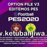 PES 2020 PS4 Option File Editemos v3 AIO