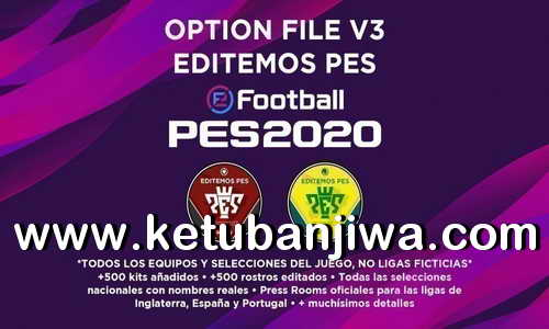 eFootball PES 2020 Option File Editemos v3 AIO For PS4 Ketuban Jiwa