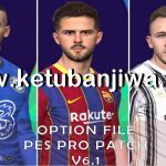 PES 2017 Option File Update 22/07/20 For Professionals Patch 6.1