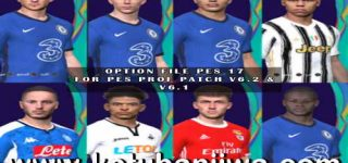 PES 2017 Option File Update 28 August 2020 For Professionals Patch 6.1 + v6.2 by PES Empire Ketuban Jiwa