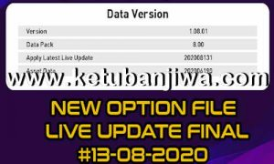 PES 2020 Option File Transfer Update 13 August 2020 For Andri Patch 8.0 by Sofyan Andri Ketuban Jiwa