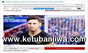 eFootball PES 2021 DpFileList Generator Tools 1.0 by MjTs-140914 Ketuban Jiwa