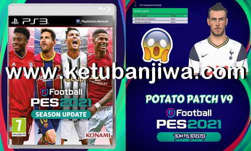 PES 2018 PS3 Potato Patch v9 Savedata Update November 2020 Ketuban Jiwa