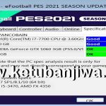 PES 2021 Settings.exe For Check PC Specifications