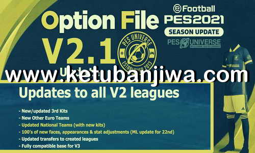 PES 2021 PESUniverse Option File 2.1 AIO For PC + PS4