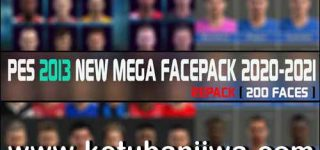 PES 2013 Mega Facepack 200 Faces Season 2021 by RGH Mods Ketuban JIwa