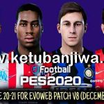 PES 2020 Option File Update 27/12/2020 For EvoWeb Patch 8.0
